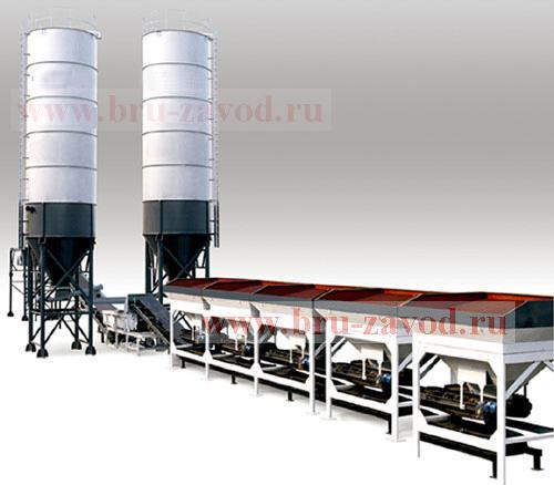 Бетонный завод для цементации и стабилизации грунта