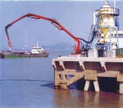 Перегрузка цементных смесей в терминалах портовых служб