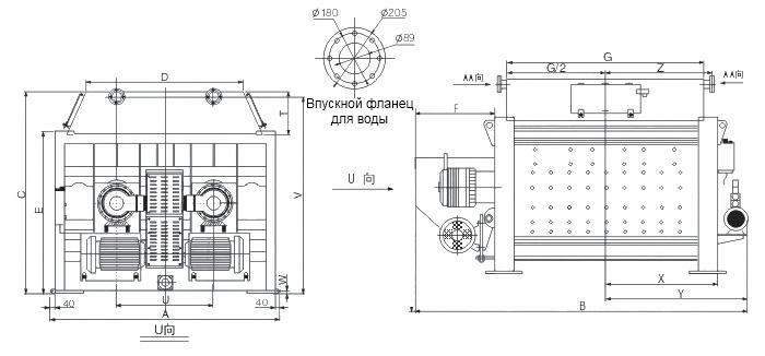 Двухвальный бетонный смеситель  принудительного перемешивания мини серии MSO